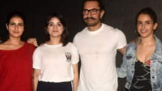 Dangal Reunion: Fatima Sana Shaikh, Aamir Khan, Sanya Malhotra, Zaira Wasim Were All Smiles At Secret Superstar Screening