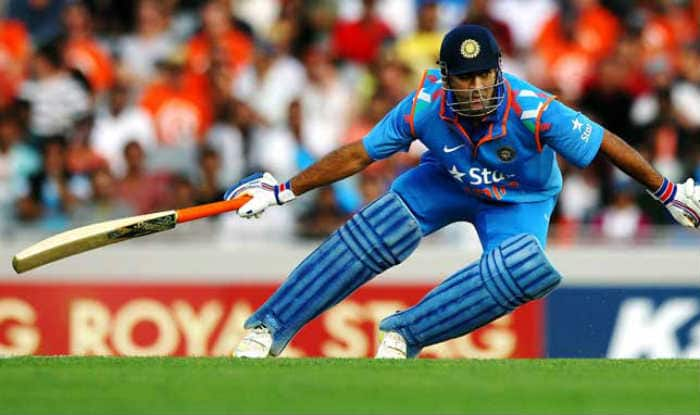 File image of Dhoni running between the wickets.