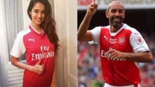 Disha Patani Dons Arsenal Jersey Gifted by Football Club Legend Robert Pirès, Posts Picture on Instagram