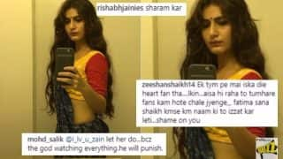 Fatima Sana Shaikh Trolled For 'Shameless Selfie' in Saree: Online Fans Bash Thugs of Hindostan Actress For Hot Picture
