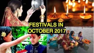 Festival Calendar October 2017 with Holidays: List of Fasts, Event Dates and Tithis as Per Hindu Panchang with Subh Muhurat