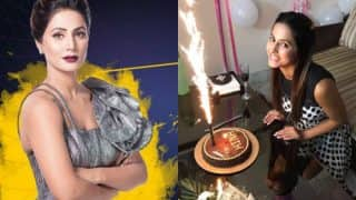 Hina Khan Birthday Pictures: Here's How Rohan Mehra, Kanchi Singh, Rocky Jaiswal Surprised The Diva Before She Entered Bigg Boss 11 House