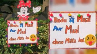 Delhi University's Hindu College Puts Up Sexist Poster Addressing Women As 'Maal' During Freshers' Party
