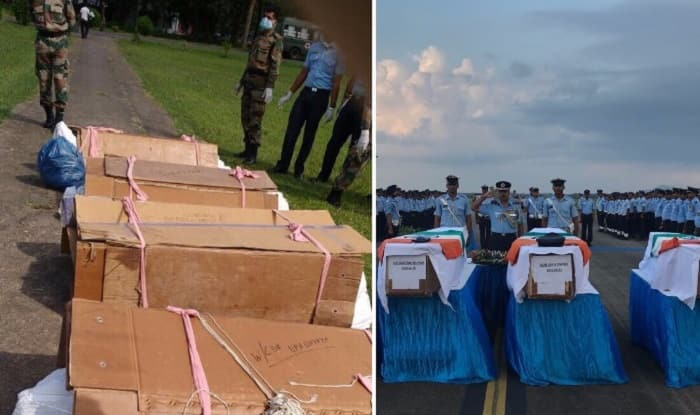 Images of soldiers' bodies in plastic sacks trigger row