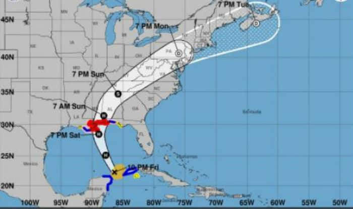 Tropical Storm Nate approaches US Gulf Coast