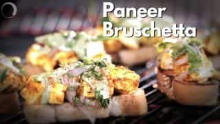 Here's a Simple Recipe to Make Paneer Bruschetta