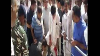 Rajasthan Congress Leader Misuses Power, Asks Security Guard to Take off His Shoes at Temple- Watch Video