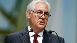 Rex Tillerson to Arrive India to Take Forward Trump's South Asia Policy