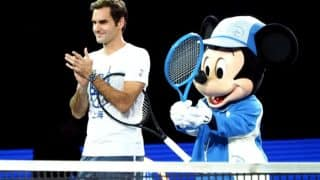 Roger Federer Dancing With Mickey Mouse In This Video At Shanghai Rolex Masters Proves That He Has Two Left Feet