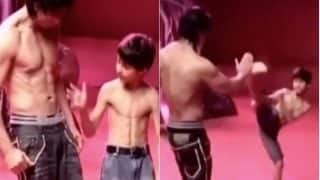 Shah Rukh Khan Learning Taekwondo Side Kick From Son Aryan in This Old Video From Dard-e-Disco Song Days is Too Cute