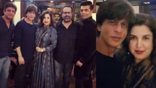 Shah Rukh Khan Hosts A Casual Pre-Diwali Bash At His Residence With Close Friends Farah Khan Kunder, Karan Johar And A Few Others In Attendance-View Pics