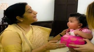 Sushma Swaraj Tweets Picture With Her Adorable Little Friend Medina Sami Khan, Adnan Sami Thanks Her For The Gesture