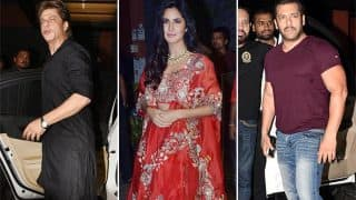 Shah Rukh Khan, Katrina Kaif, Salman Khan Make A Grand Appearance At Arpita Khan's Diwali Bash-View Pics