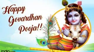 Govardhan Puja 2017 Wishes: Best WhatsApp Messages, GIF Images, Facebook Quotes & SMS in Hindi to Celebrate Fourth Day of Diwali