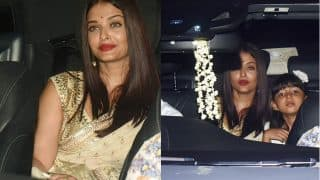 Aaradhya Bachchan Ditches Her Signature Pink As She Is Spotted With Parents Aishwarya Rai Bachchan And Abhishek Bachchan In The City- View Pics