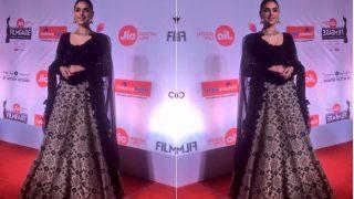 Aditi Rao Hydari Brings The Red Carpet To Life In This Stunning Black Number At The Marathi Filmfare Awards 2017