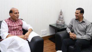 केंद्रीय गृहमंत्री राजनाथ सिंह ने की अक्षय कुमार की तारीफ, अभिनेता ने दिया ये जवाब