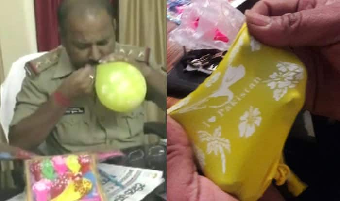 Indian police seize balloons with 'I love Pakistan' imprints