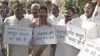 Congress Protests Against Ordinance Shielding CM, MLAs, Ministers, Babus, Centre Backs it; Rajasthan Assembly Adjourned Till Tuesday