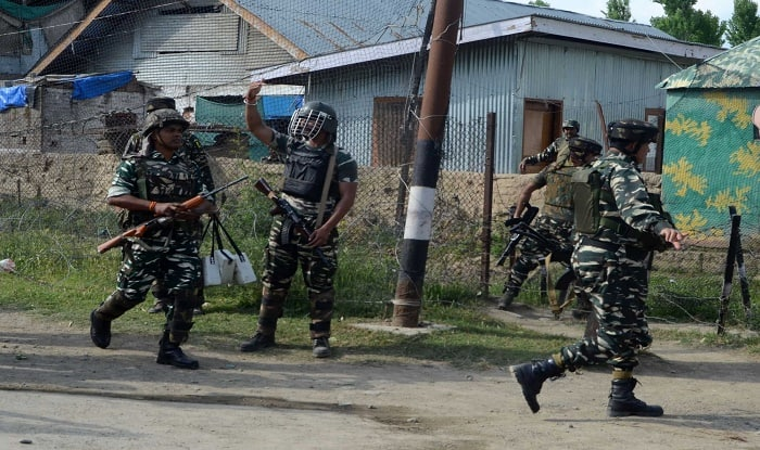 Terrorist attack on CRPF camp in Pulwama