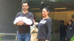 Exclusive Pics: अस्पताल से डिस्चार्ज के बाद नन्ही परी को लेकर घर पहुंची ईशा देओल, देखिए पहली तस्वीरें