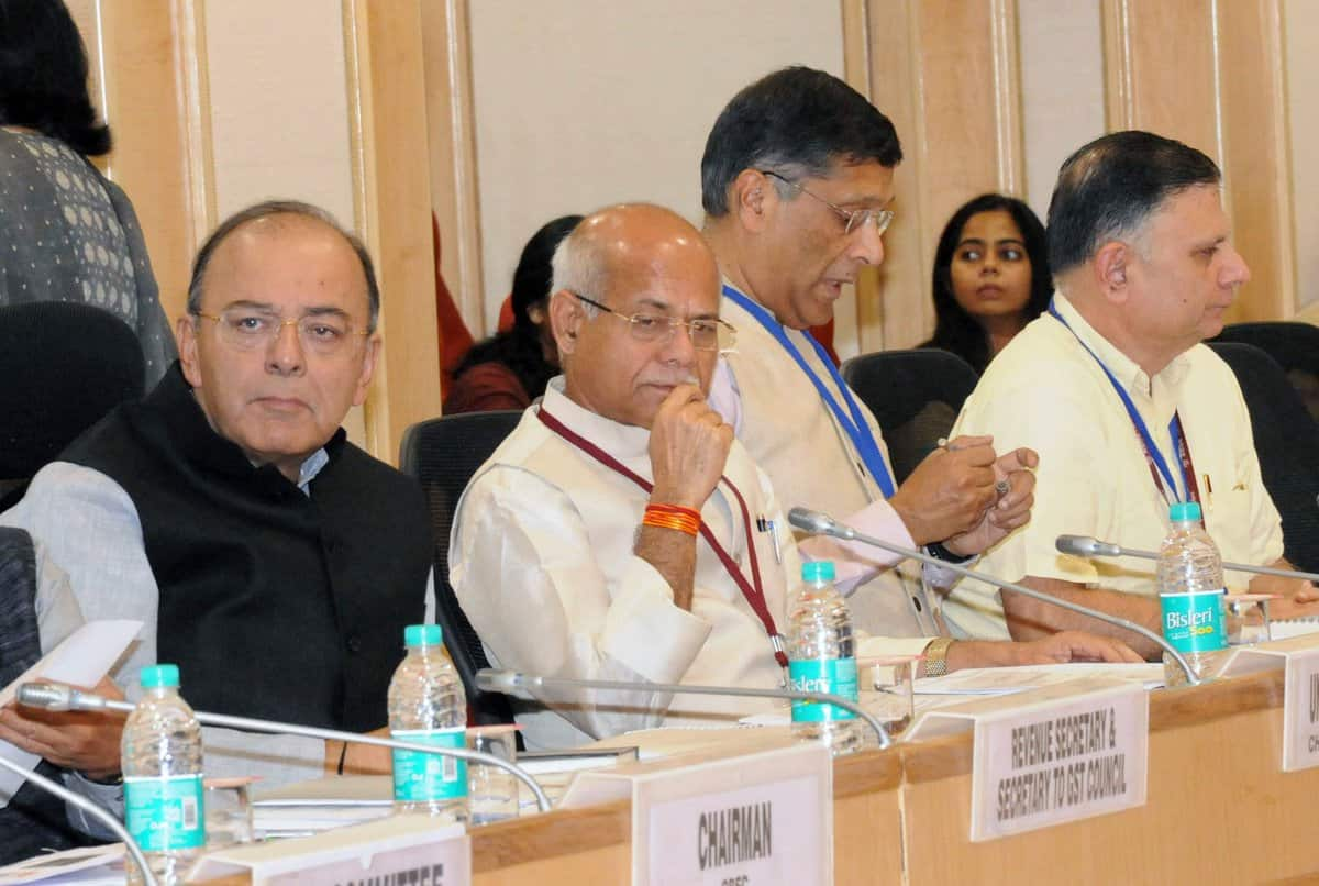 Finance Minister Arun jaitley Chairing the meet of Goods and Services Tax. [File Image]