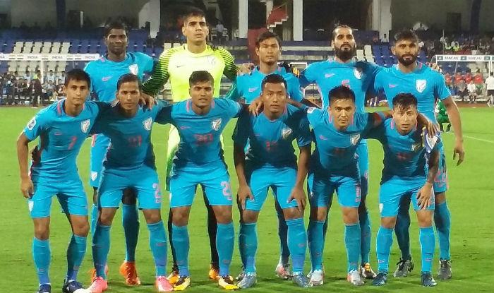 The Indian football team.