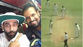 Irfan Pathan Drops his Bat to Celebrate elder brother Yusuf's Ranji Trophy hundred (Watch Video)