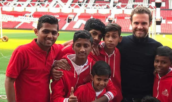 Juan Mata invites Mumbai youngsters to Old Trafford.
