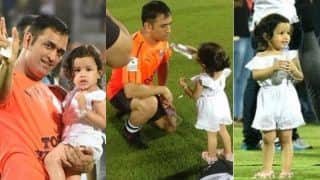 Ziva and MS Dhoni Pictures from Celebrity Clasico: 11 Photos of Cute Daughter-Father Jodi Are Pure Gold