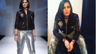 Amazon India Fashion Week 2017: Nargis Fakhri Looks Sassy on The Ramp Wearing A Stunning Black Jacket