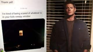 Supernatural Actor Jensen Ackles's Cutout In A Teenager's Window Scared The Shit Out Of Her Neighbour; Twitterati Can't Stop Laughing