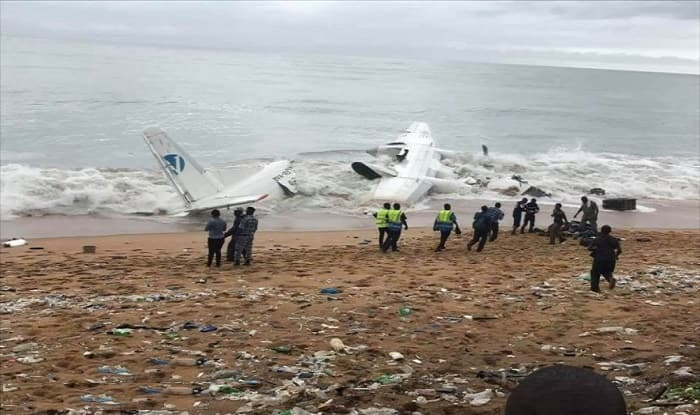 Cargo plane crashes into sea off Ivory Coast in heavy rain