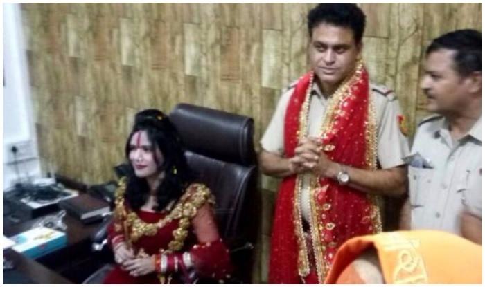 Self-styled god woman Radhe Maa gets VIP treatment at a Delhi Police Station. Photo: ANI