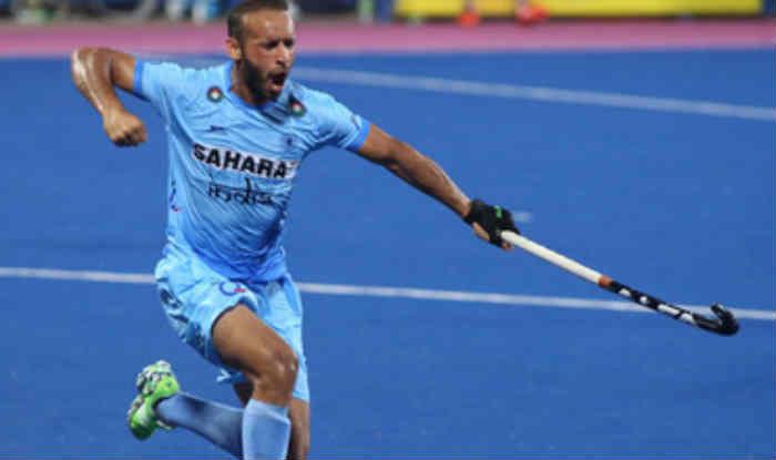 भारत के रमनदीप सिंह गोल दागने के बाद खुशी मनाते हुए (Twitter/Hockey India)