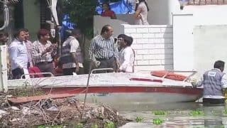 Hyderabad: Water From Overflowing Ramanthapur Lake Enters Homes, Residents Use Boats to Commute
