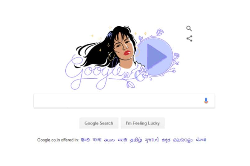 Singer Selena Quintanilla Celebrated in Google Doodle