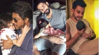 Shahid Kapoor Cradles Sleeping Misha in Cute Instagram Photo: See Pictures of Other Bollywood Dads Cradling Their Babies