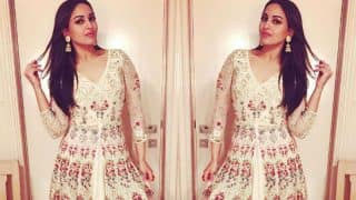 Sonakshi Looks Diwali Ready in This Gorgeous Floor Length Dress that she Wore For Diwali