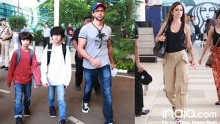 Hrithik Roshan and Sussanne Khan Return From Their Mini Goa Vacay With Sons Hrehaan Roshan and Hridhaan Roshan-View Pics