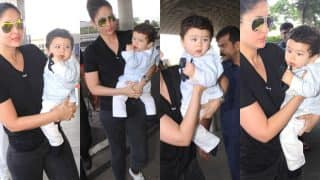 Kareena Kapoor Khan Enroute Delhi To Resume Shoot For Veere Di Wedding But Not Without Taimur By Her Side-View Pics