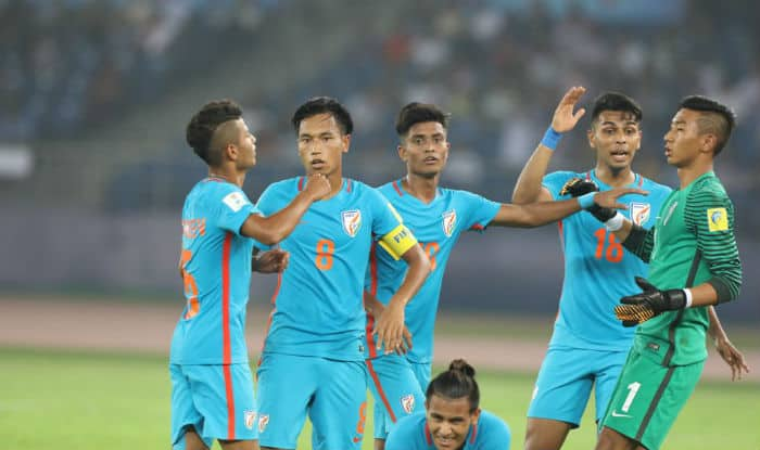 The Indian football team. (Twitter)