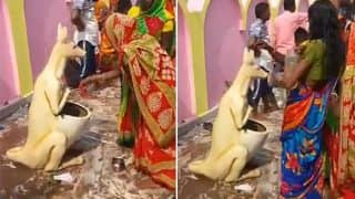 Video of Women Worshipping the Dustbin 'God' In Bihar Temple Goes Viral: Jai Ho Swachh Bharat Abhiyaan