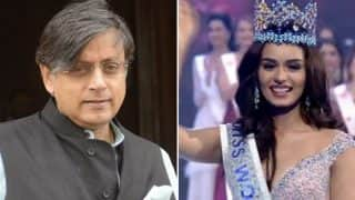 Shashi Tharoor Responds to Miss World 2017 Manushi Chhillar's 'I'm Not Upset' Tweet, Says 'You're a Class Act'
