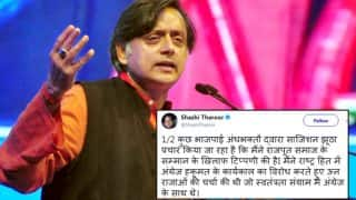 Shashi Tharoor's Tweets On Padmavati Row And Rajputs in Hindi, Leaves Twitterati Surprised