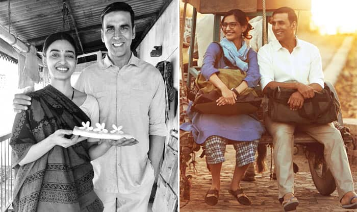 Akshay Kumar reveals first look of Sonam Kapoor, Radhika Apte in Padman