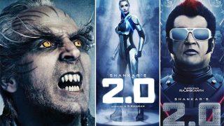 Rajinikanth's 2.0 Getting Ready To Clash With Akshay Kumar's Gold Or Aamir Khan's Thugs Of Hindostan?
