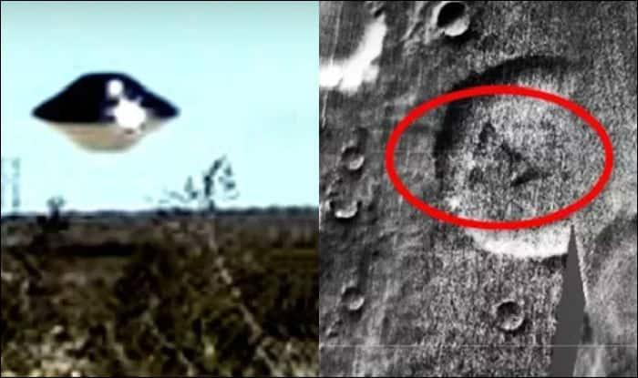 Crashed UFO spotted on Mars