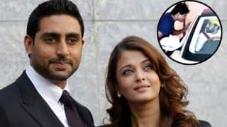 Abhishek Bachchan Miffed With A Photographer For Taking Unfavourable Pics Of Wife Aishwarya Rai Bachchan - Watch Video