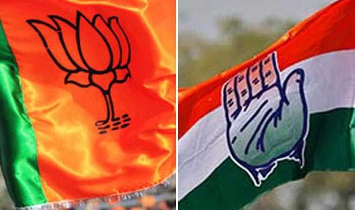BJP_Congress_Flags